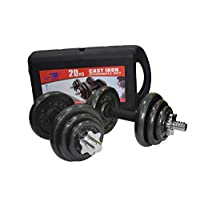 Skyland Unisex Adult Cast Iron Dumbbell Set Em-9221-20 - Black, L 43 X W 25 X 16 cm
