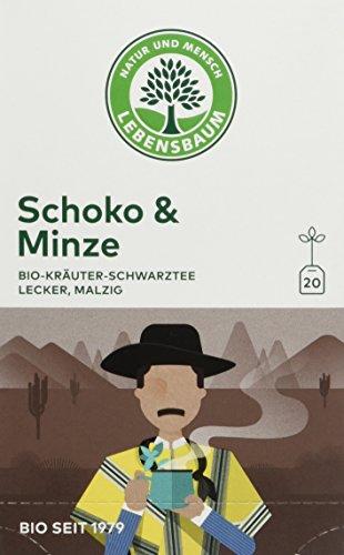 Lebensbaum Bio Kräuterteemischung Schoko und Minze, 3er Pack (3 x 40 g)