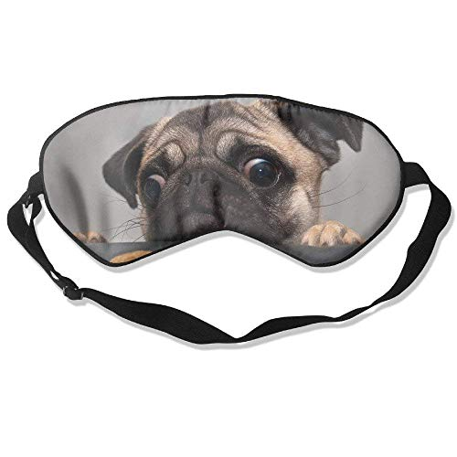 Pug Dog Face Sadness Cookies Smooth Breathable Sleep Goggles Help to Sleep,Sleep Mask No Pressure Help to Sleep,Sleep Mask No Pressure Cookie Bluetooth