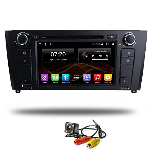 Android 8.1 Car DVD Head Unit Radio GPS Navigation for BWM 1 Series 120i E81 E82 E83 E88 Stereo Audio Navi Video with Bluetooth Calling WiFi (Android 8.1 4+32G for BMW E82 E83 DVD) -
