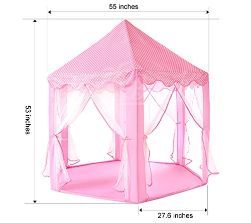 Tiendas de campaña AYUE® Niños Niños Pop Up Princess Castle Play Tent Indoor Outdoor Easy Assembly