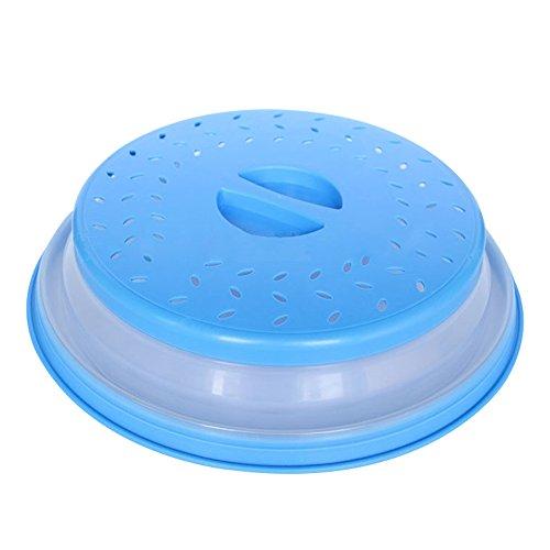 Bpa Mikrowellen-abdeckhaube Frei Lebensmittel, Für (klappbar Mikrowelle, Espoy Speisen Teller Sieb Sieb für Obst Gemüse, verhindert Splatter, BAP frei und ungiftig, blau)