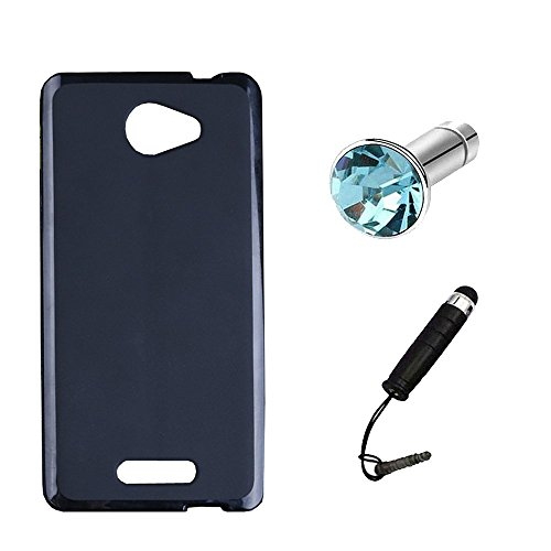 Lusee® Silikon TPU Hülle für Alcatel Onetouch Pop 4S 5.5 Zoll Schutzhülle Case Cover Protektiv Silicone schwarz
