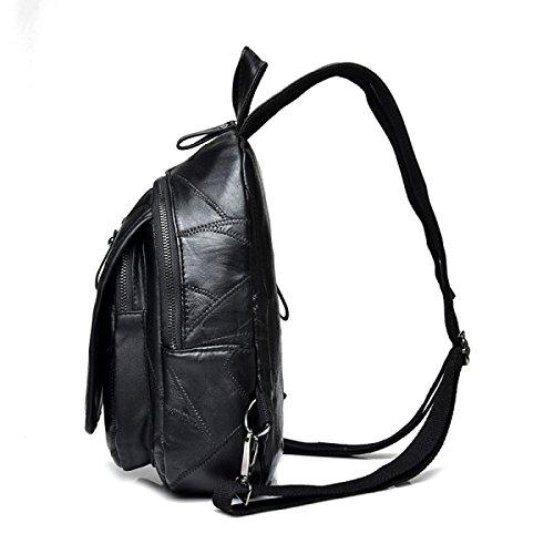 DHFUD , Damen Rucksackhandtasche Schwarz