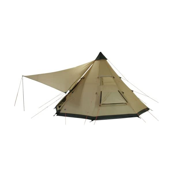 10T Outdoor Equipment Waterproof Shoshone 500 Unisex Outdoor Teepee Tent available in Beige  - 10 Persons 5