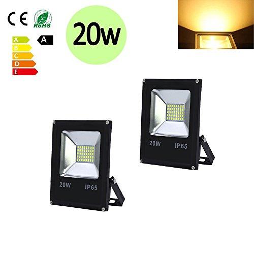 Hengda® LED Foco proyector Exterior Floodlight IP65 LED Resistente al agua (2X...