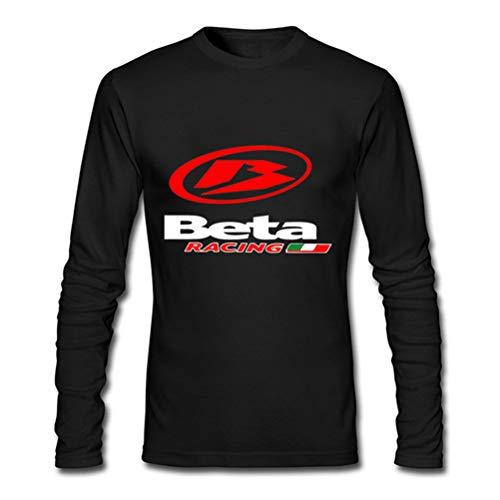 Beta-schwarzes T-shirt (Beta Racing for Man Black T-Shirt Long Sleeve Size L)