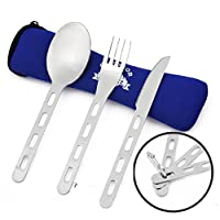 OUTDOOR FREAKZ Outdoor Camping Cutlery made of Stainless Steel with Neoprene Bag 14