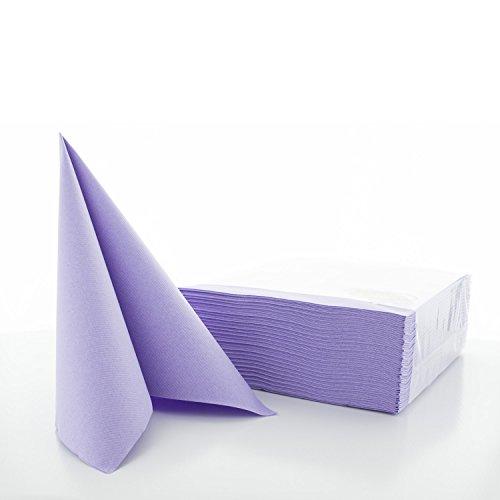 Sovie Horeca Airlaid-Servietten 40x40 cm/hochwertige Einweg-Servietten/extrem saugstark und stoffähnlich/ideal für Hochzeit & Partys/50 Stück/Lila