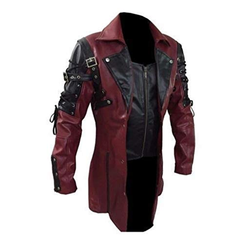 cinnamou Herren Mantel & Jacke Frack Steampunk Gothic Vintage Viktorianischen Herrenjacke Gehrock Cosplay Kostüm Smoking Uniform Kostüm Retro Mittelalter Kleidung Herbst Winter Party - Herren Kostüm Frack