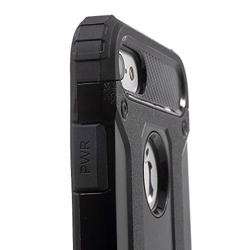 Plastique et TPU Housse dur pour Apple iPhone Armor Cover avec hybride conception de noir