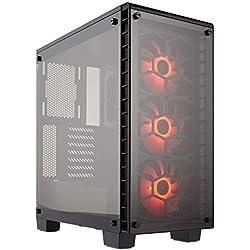 Corsair Crystal 460X RGB Boîtier PC Gaming (Moyenne Tour ATX avec Fenêtre en Verre Trempé) Noir