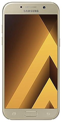 Samsung Galaxy A5 2017 Smartphone portable débloqué 4G (Ecran: 5,2 pouces - 32 Go - Nano-SIM - Android) Or,Carte SIM européenne uniquement