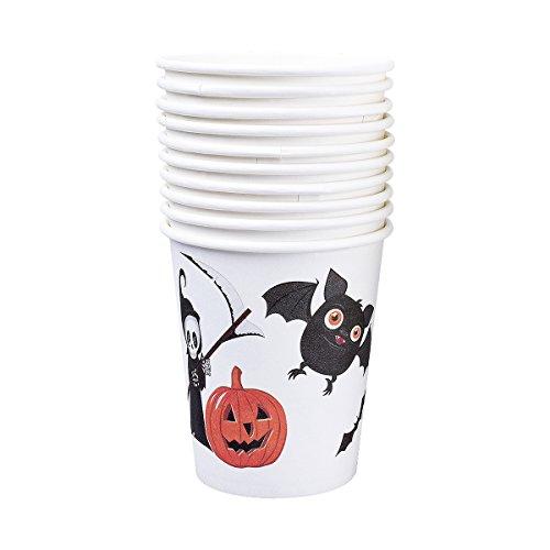 (Pappbecher 250ml 10 Stück, Paper Cups Pack of 10 for Halloween Party, Für Kinder Kindergeburtstag)