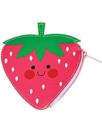 Tragbar Flamingo-Erdbeere Geldbörse Mini Wallet Reißverschlusstasche