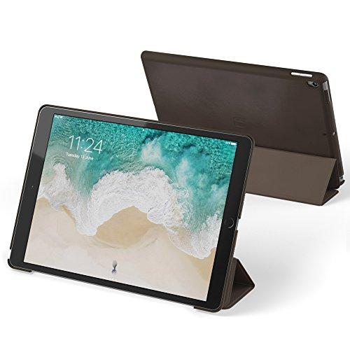 Snugg b071wckq5K aus thermoplastischem Polyurethan-Kunstleder-Ultra-dünne 10,5Flip Cover für Apple iPad Pro–Dark Braten braun