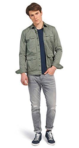 Tom Tailor Denim für Frauen Shirt / Blouse lässige Hemd-Jacke sea spray
