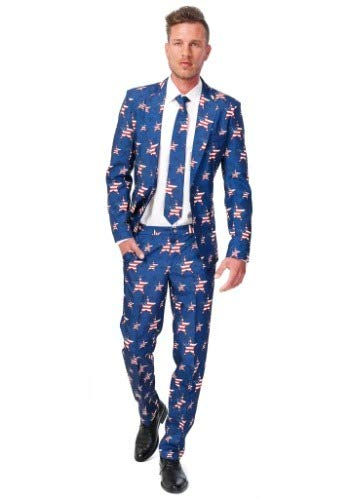 Opposuits USA Stars and Stripes Anzug - Amerika Party Kostüm