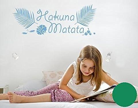 Wandtattoo Hakuna-Kids B x H: 120cm x 45cm Farbe: grün von Klebefieber®