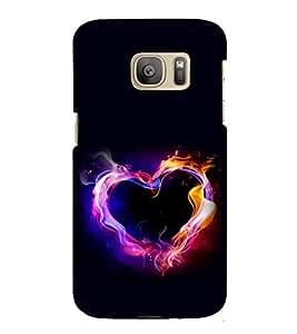 Burning Heart 3D Hard Polycarbonate Designer Back Case Cover for Samsung Galaxy S7 Edge :: Samsung Galaxy S7 Edge Duos :: Samsung Galaxy S7 Edge G935F G935 G935FD