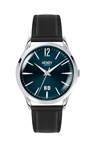 Henry London Unisex-Armbanduhr Knightsbridge Analog Quarz Leder HL41-JS-0035