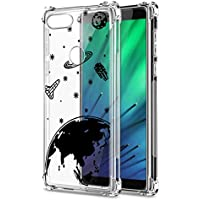 Oihxse Transparente Silicona Funda Compatible con Xiaomi Redmi Note 5/Note 5 Pro Carcasa Ultra-Delgado Suave TPU Gel Airbag Esquinas Anti Rasguños Lindo Protector Case Bumper(A5)