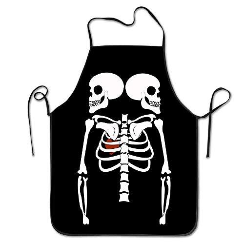 (ruichangshichengjie Halloween Maternity Skeleton Pregnant Cute Aprons Cooking Aprons)