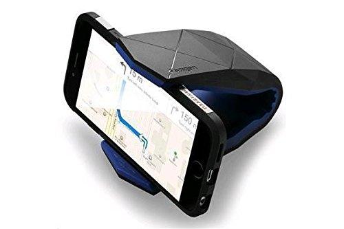 Auto Handyhalterung, Spigen [Stealth] [Design-Patent][Prämie TPU] Unterstützung Auto Smartphone KFZ Halterung iPhone 7/7 Plus/6S/6S Plus, Galaxy S8/S8 Plus/S7/S7 Edge/S6, Galaxy Note 5/4, Huawei P10/P10 Plus/P9/P8, Googld Pixel, HTC, Nexus 5X / 6P, LG G6 und mehr Handy KFZ Halterung - Stealth