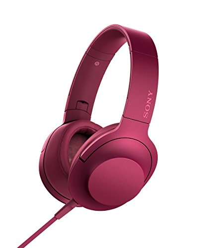 Sony MDR-100AAP Over-Ear, Hi-Res Audio, Driver HD da 40 mm, Design Pieghevole, Microfono in Linea, Fucsia