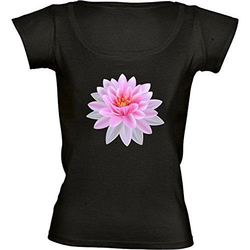 t-shirt-pour-femme-noir-col-rond-taille-s-fleur-de-lotus-buddha-yoga-by-wonderfuldreampicture