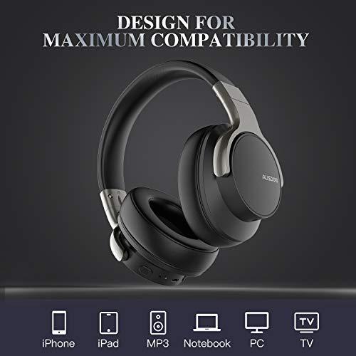 Ausdom ANC8 Auriculares Bluetooth 4.0 Cancelacion de Ruido Micrófono Incorporado Batería Litio Recargable de 400 mAh para Smartphones y Tablets