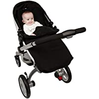Clair de Lune All Seasons Pushchair Footmuff (Black) - ukpricecomparsion.eu