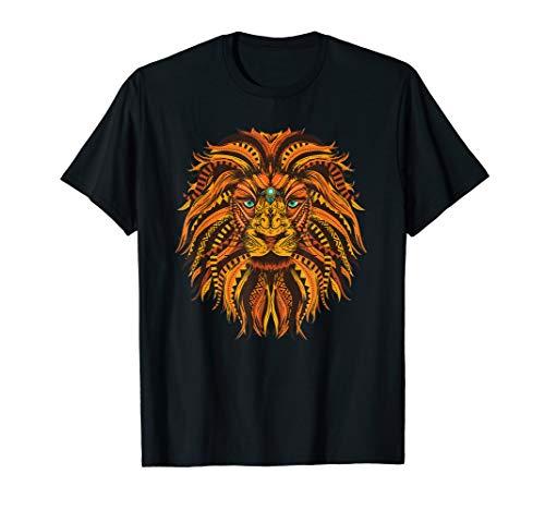 Löwe Lion Design Mandala Style T-Shirt Damen Herren Kinder