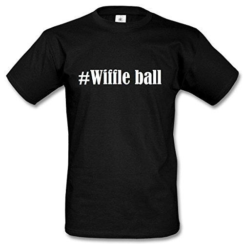 T-Shirt #Wiffle ball Hashtag Raute für Damen Herren und Kinder ... in den Farben Schwarz und Weiss Schwarz