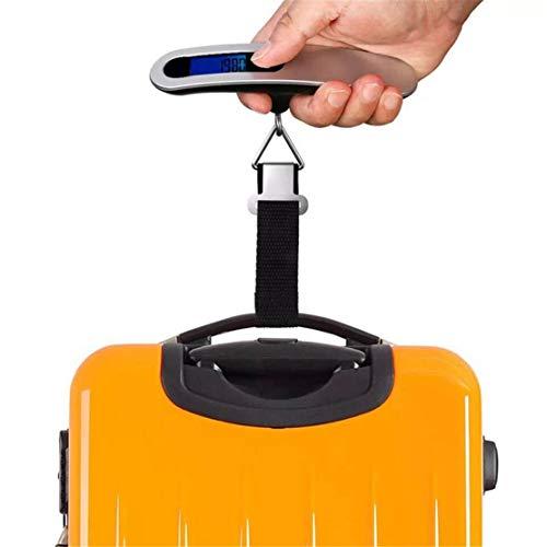 happy event Tragbare Reisewaage | 110lb / 50kg LCD Digital hängende Kofferwaage | Elektronisches Gewicht
