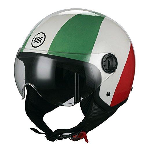 BHR Casco Moto Demi-Jet Linea One 801, bandera Italia, M (57/58cm)