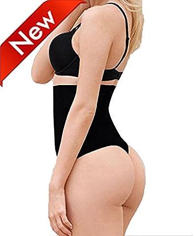 Women's Shapewear Underwear Waist Butt Shaper Lifter Thong Panty Tummy Control Panties Black M/L
