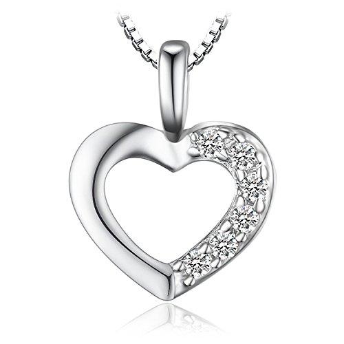 Jewelrypalace Liebe Herz Prinzessin Damen Kubik Zirkonia Verlobung Hochzeit Anhänger Halskette Mit 45cm Box Kette 925 Sterling Silber