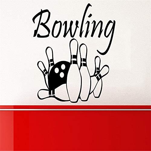 lyclff Bowling Wandtattoo Sport Unterhaltung Kegel Wandtattoo Vinyl Aufkleber57 * 64cm