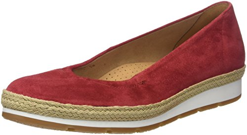 Gabor Shoes Damen Comfort Sport Geschlossene Ballerinas, Rot (Red (Jute/S.N/W)), 38 EU