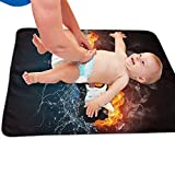 Zcfhike Baby Portable Diaper Changing Pad Water and Fire Guitar Urinary Pad Baby Changing Mat 31.5' x25.5''
