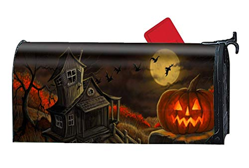 alloween Magnetic Mailbox Cover Fits Standard Mailboxes 21 x 18 Inches Waterproof Canvas Mailbox Cover ()