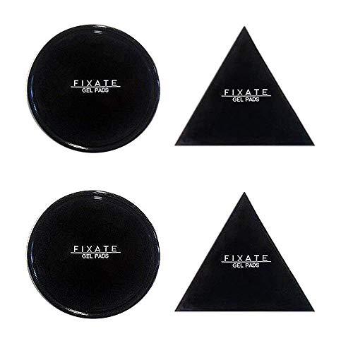 [4 Stücke] chinatmax Nano Gummi Fixieren Sticky waschbar Pads Sticky Auto Gel Anti Rutsch Halter für mehrere nutzt, Auto GPS, Küche Schränke oder Fliesen, iPad (491)