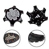 YIFEIKU Co.,Ltd. Golfschuhe Spikes Fast Twist Tri-LOK Ersatz-Spikes aus Gummi für Footjoy schwarz 20 Stück (schwarz)