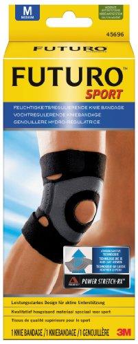 futuro bandagen FUTURO FUT45696 SPORT Knie-Bandage, beidseitig tragbar, latexfrei, Größe M, 38,0 – 43,0 cm