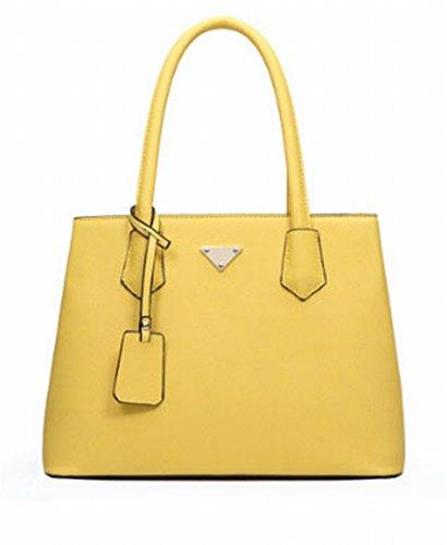 Weibliche Damen Damen-Atmosphäre Metall Art und Weise Kurier Tasche Schultertasche Damentasche Gelb