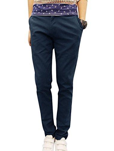 Brodé Géométrique homme Taille mi-haute Slim Fit style décontracté Bleu - Bleu marine