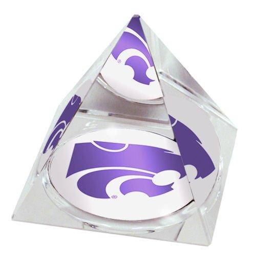 Sports Collector's Guild NCAA Kansas State University Wildcats Maskottchen in 5 cm Kristallpyramide mit Farbiger Geschenkbox mit Sichtfenster Kansas State University