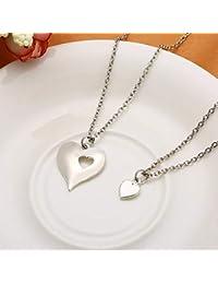 86d4d6636418 LBZDR Collar Joyería del Amante de la Familia 2 unids Set Madre e Hija  Collares