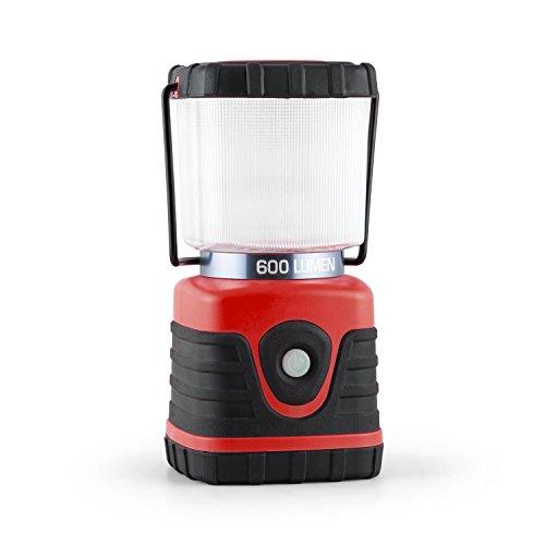 Yukatana Yequuleus Mobile Camping-Leuchte Tragbare Laterne Outdoor LED Lampe tragbar (600 Lumen, bis 150h 15m Betriebsdauer, Batterie-Betrieb, mit Henkel und Standfuß, eckig) rot (Hängelampen Batterie Betrieben)